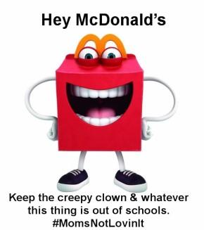 #MomsNotLovinIt Heading to McDonald's HQ